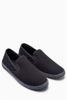 Herringbone Quilted Slip-On