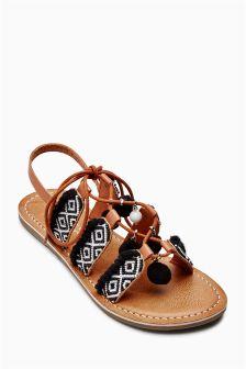 Sandalen mit Bommeln (Teenager – Mädchen)