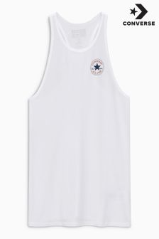 Converse White Chuck Patch High Neck Tank