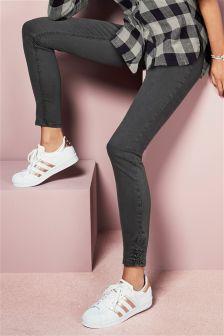 Lace Hem Skinny Trousers