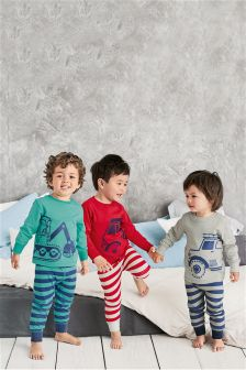 Transport Snuggle Fit Pyjamas Three Pack (9mths-8yrs)