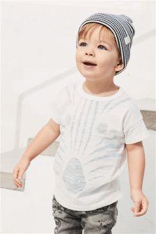 Zebra Face Short Sleeve T-Shirt (3mths-6yrs)