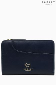 Radley Ink Navy Pockets Medium Zip Top Purse