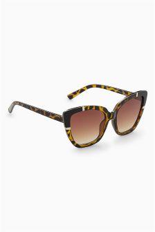 Square Metal Detail Sunglasses