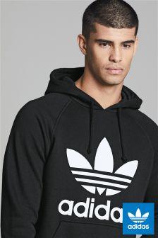 Czarna bluza z kapturem zakładana przez głowę adidas Originals