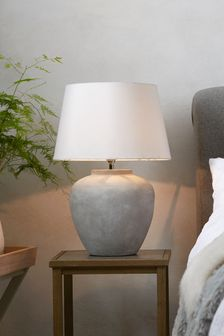 Lydford Large Ceramic Table Lamp With Shade