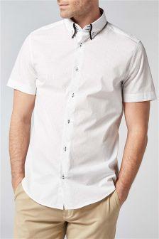 Рубашка с коротким рукавом и двойным воротником