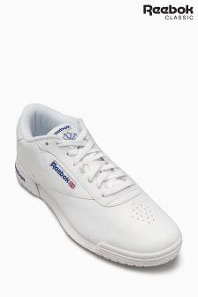 Białe klasyczne buty sportowe z logo Ex-O-Fit Clean Reebok
