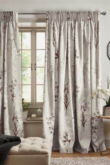 Collection Luxe Photographic Floral Pencil Pleat Curtains