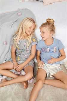 Lolly Short Pyjamas Two Pack (3-16yrs)