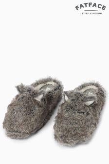 Fat Face Grey Wilfred Wolf Mule