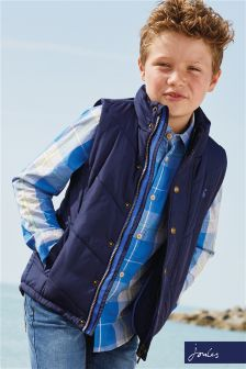 Joules Navy Matchday Fleece Lined Gilet