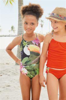 Badeanzug mit Tukanmuster (3-16 Jahre)