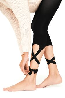 Tie-Up Footless Tights