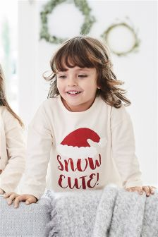 Snow Cute Printed T-Shirt (3mths-6yrs)
