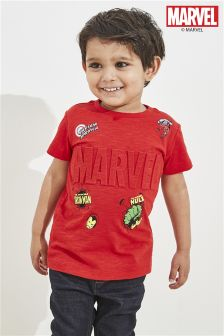 Short Sleeve Marvel Embossed T-Shirt (3mths-6yrs)
