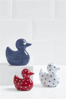 Set Of 3 Ceramic Ducks