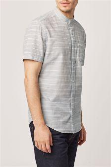 Фактурная рубашка с коротким рукавом