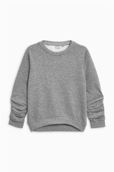 Ruched Sleeve Crew (3-16yrs)