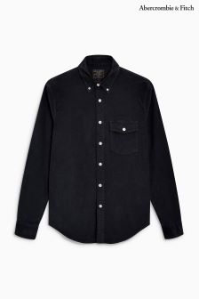 Abercrombie & Fitch Dark Grey Needle Cord Shirt