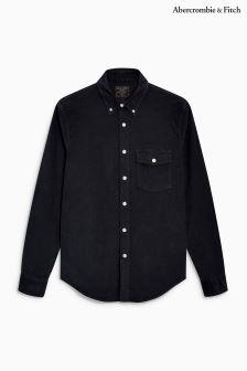 Ciemnoszara koszula w drobne prążki Abercrombie & Fitch