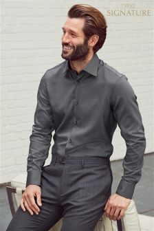 Узкая рубашка в горошек Signature