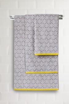 Jacquard-Handtuch mit geometrischem Blumenmuster