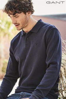 Gant Navy Long Sleeve Poloshirt