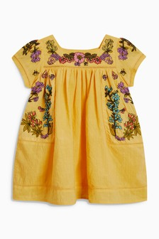 فستان مطرز (3 أشهر -6 سنوات)