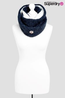Superdry Navy Clarrie Stitch Snood