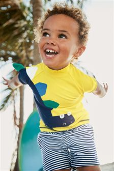 Dinosaur Swim Shorts And Vest Two Piece Set (3mths-6yrs)