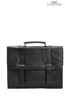 Кожаный портфель из именной коллекции