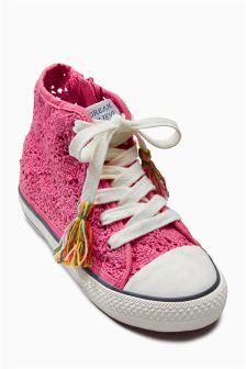 Crochet High Top Boots (Older Girls)