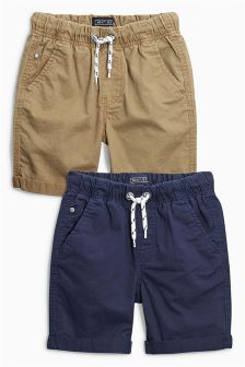 Pull On Shorts Two Pack (3-16yrs)