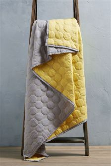 Circles Quilted Throw