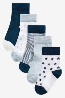Socks Five Pack (Younger Boys)