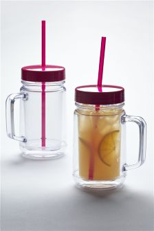2 Pack Cuba Straw Cups