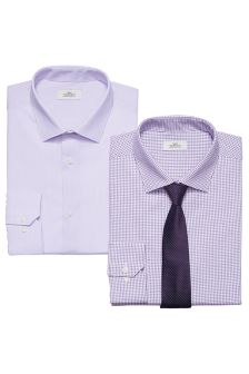 Shirts With Tie Two Pack