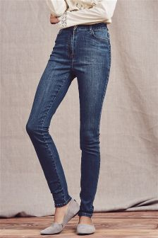Skinny-Jeans mit hoher Taille