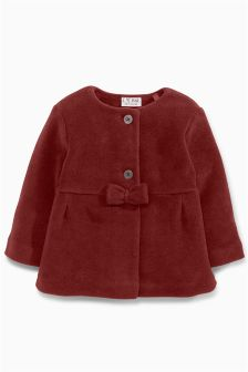 Fleece Bow Jacket (3mths-6yrs)