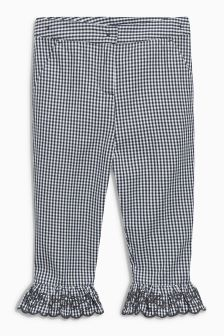 Gingham Frill Hem Trousers (3-12yrs)