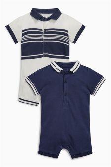 Polo有领连衣裤两件装 (0个月-2岁)