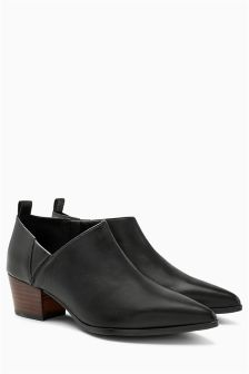 Leather Pointed Shoe Boots