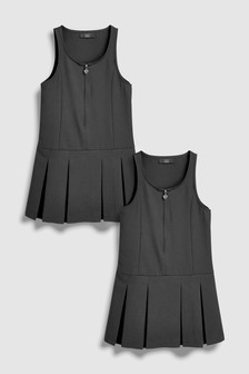 Zip Front Pinafore Two Pack (3-10yrs)