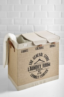 Jute Triple Laundry Sorter