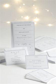 Komplet 30 zaproszeń weselnych