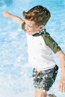 Rash Schwimmtop in Blockfarben (3-16yrs)