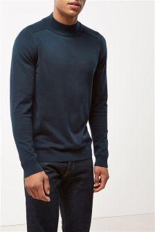 Blue                     Turtle Neck Sweater