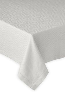 Collection Luxe Grey Geometric Jacquard Tablecloth