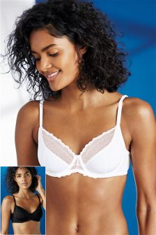 Non Padded Balcony Bras Two Pack